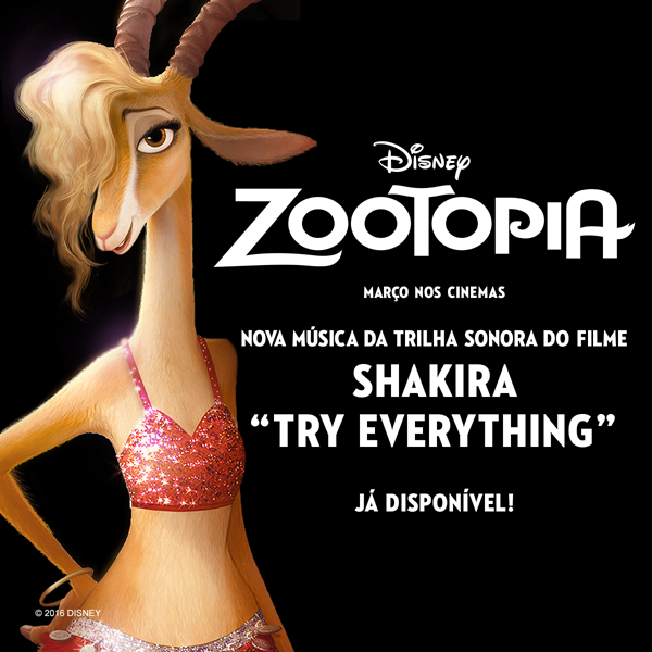 Zootopia Try Everything clipe